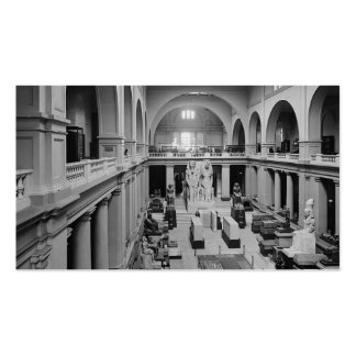 The Egyptian Museum. Interior of Main Hall c.1934 Business Card
