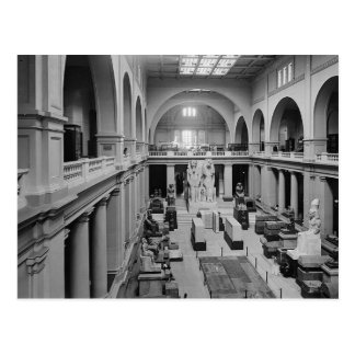 The Egyptian Museum. Interior of Main Hall c.1934 Postcard