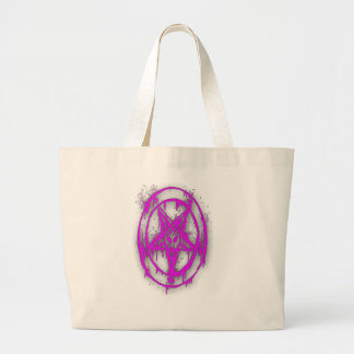 The Egyptian Symbol Of Good Luck with Color Violet Large Tote Bag