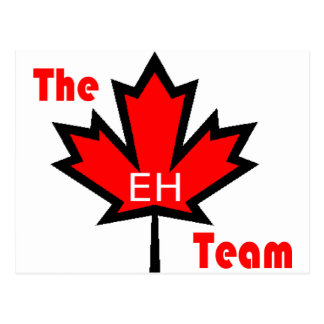 the eh team postcard