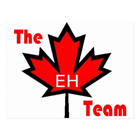 the eh team postcard