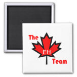 the eh team square magnet