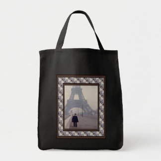 The eiffel tower and a Gendarme Tote Bag