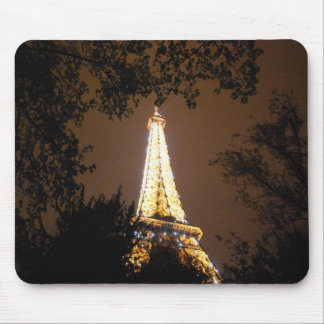The Eiffel Tower at Night Mouse Pad