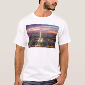 The Eiffel Tower at night, Paris France T-Shirt