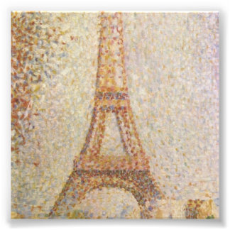 The Eiffel Tower by Georges Seurat Photograph