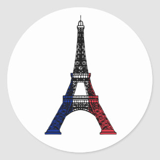 The Eiffel Tower Classic Round Sticker