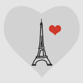 The Eiffel Tower Heart Sticker
