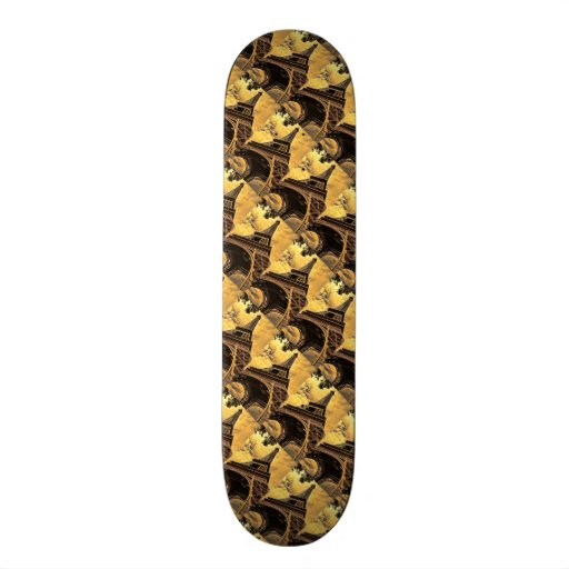 The Eiffel tower in Paris France Skate Board