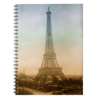 The Eiffel tower in Paris Notebook