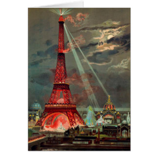 The Eiffel Tower in Red Note Card