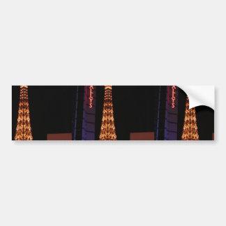 The Eiffel Tower Reproduction At Paris Las Vegas Bumper Stickers
