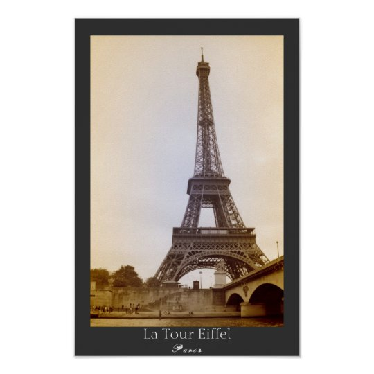 The Eiffel Tower Sepia Poster