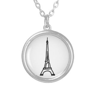 The Eiffel Tower Silver Plated Necklace