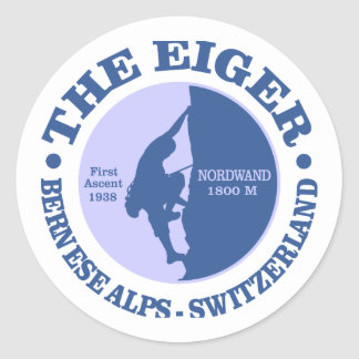 The Eiger Classic Round Sticker