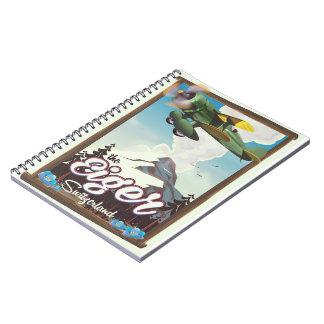 The Eiger Mountain,Switzerland travel poster Notebooks