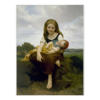 The Elder Sister by Bouguereau Poster