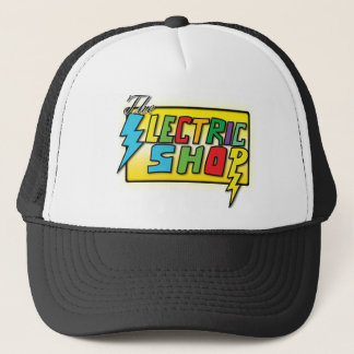 The Electric Shop Colored Logo Hat (black trucker)