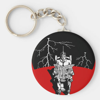The Electrical Chair Basic Round Button Keychain