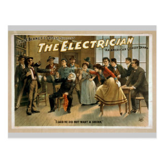 The Electrician, 'I Said He did not want a Drink' Postcard