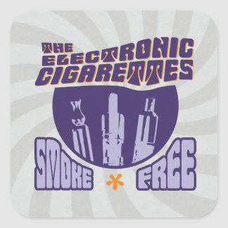 The Electronic Cigarettes - Smoke Free Square Sticker