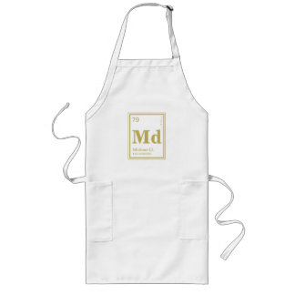The Element of You! Custom Name Gold Periodic Long Apron