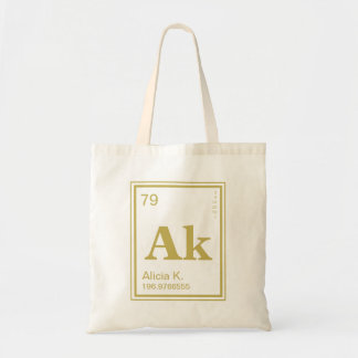 The Element of You! Custom Name Periodic Tote Bag