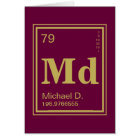 The Element of You! Custom Name Thank You Card