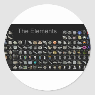 The Elements - Periodic Table Round Sticker