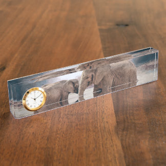 The Elephants Desk Name Plate