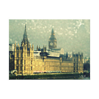The Elizabeth Tower Big Ben Stretched Canvas Print