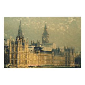 The Elizabeth Tower Big Ben Wood Wall Art
