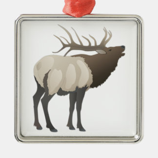THE ELK BUGLES METAL ORNAMENT