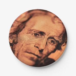 The Elusive President Jackson Paper Plate