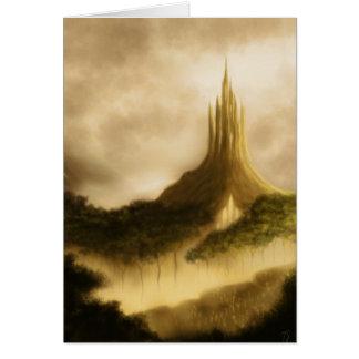 the elven kingdom fantasy art greetingcard card