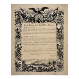 The Emancipation Proclamation Document Print