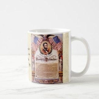 The Emancipation Proclamation Tribute To Lincoln Classic White Coffee Mug