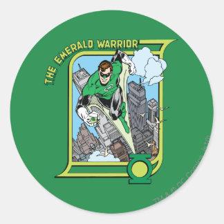 The Emerald Warrior Round Sticker