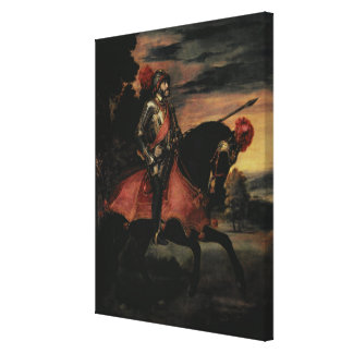 The Emperor Charles V  on Horseback Canvas Print