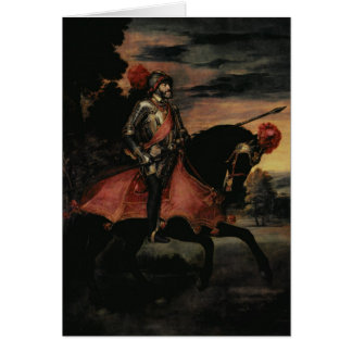 The Emperor Charles V  on Horseback Card