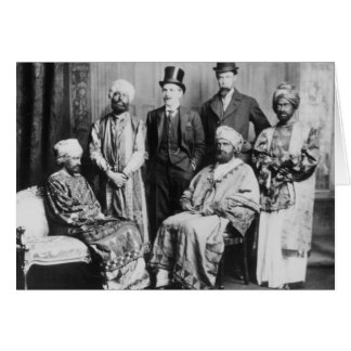 The Emperor of Abyssinia and his Court' Card