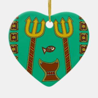 The Emperor of Fish Ceramic Ornament