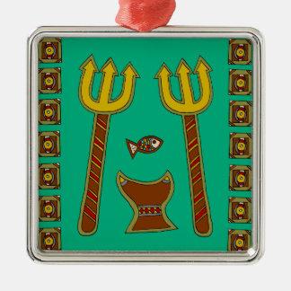 The Emperor of Fish Metal Ornament