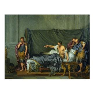 The Emperor Severus Rebuking his Son Postcard