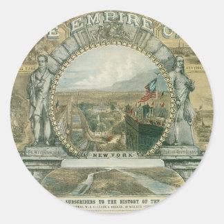 The Empire City, New York Round Stickers