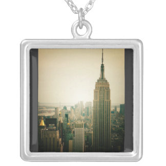 The Empire State Building Above The Rest Silver Plated Necklace