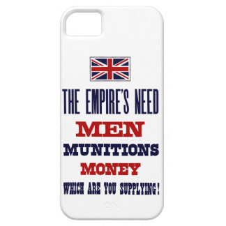The Empire's Need ~ Men, Munitions and Money Case For The iPhone 5
