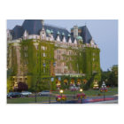 The Empress Hotel at the inner harbour in Postcard