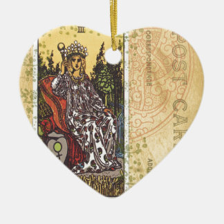 The Empress Tarot Card Postcard Fortune Teller Ceramic Ornament