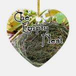 The Empty Nest Ceramic Heart Ornament